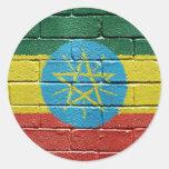 Flag of Ethiopia Classic Round Sticker
