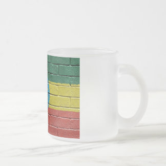 Flag of Ethiopia Frosted Glass Coffee Mug
