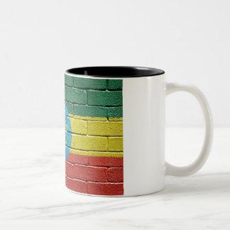 Flag of Ethiopia Two-Tone Coffee Mug