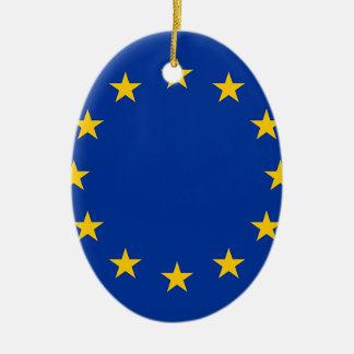 Flag of Europe, European Flag Ceramic Ornament