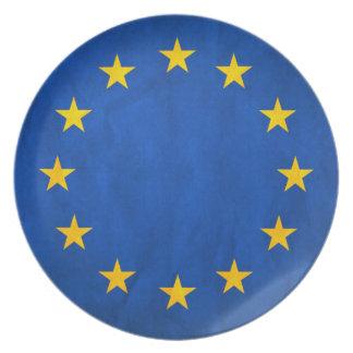 Flag of European Union, EU Flag, Flag of Europe Dinner Plate