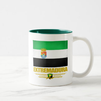 Flag of Extremadura Two-Tone Coffee Mug
