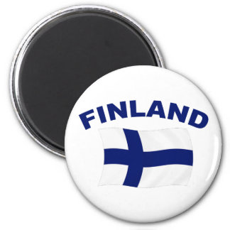 Flag of Finland 2 Inch Round Magnet