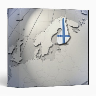 Flag of Finland 3 Ring Binder