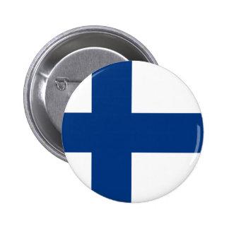 Flag of Finland Blue Cross on White Badge Pin