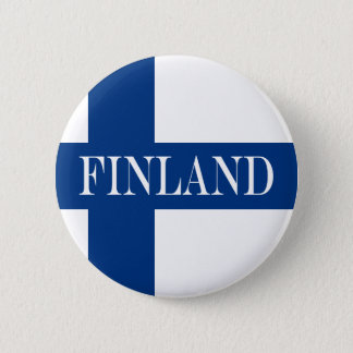 Flag of Finland Blue Cross Suomi Pinback Button