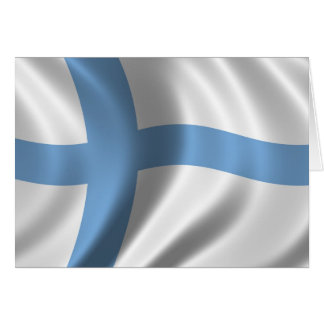 Flag of Finland Greeting Card