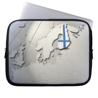 Flag of Finland Computer Sleeve