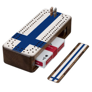 Flag of Finland Cribbage Board