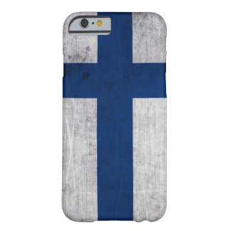 Flag of Finland Grunge Barely There iPhone 6 Case