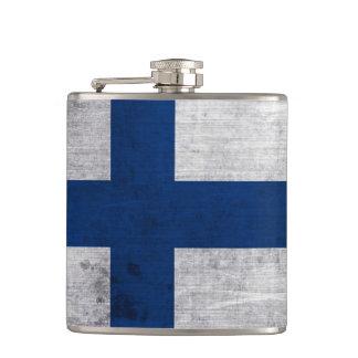 Flag of Finland Grunge Flask