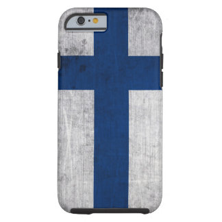 Flag of Finland Grunge Tough iPhone 6 Case