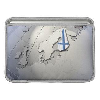 Flag of Finland MacBook Air Sleeves