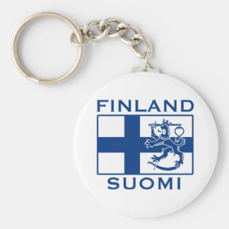 Flag of Finland Keychains