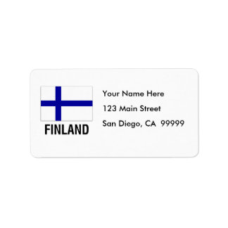 FLAG of FINLAND Label