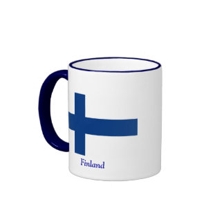 Flag of Finland Ringer Coffee Mug