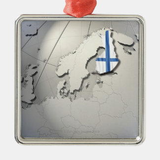 Flag of Finland Christmas Ornaments