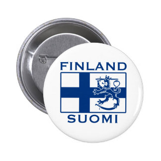Flag of Finland Pinback Button