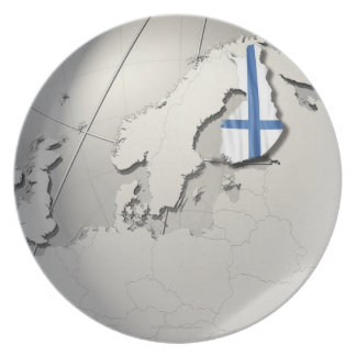 Flag of Finland Plates
