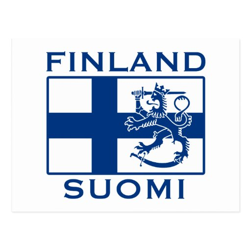 Flag of Finland Postcard