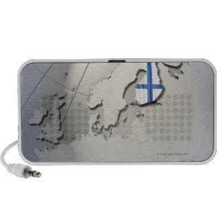 Flag of Finland Portable Speakers
