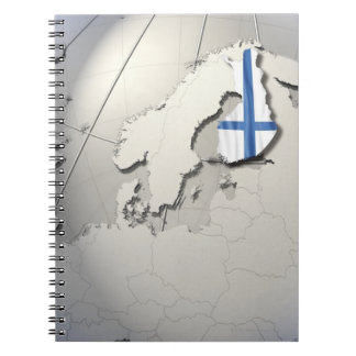 Flag of Finland Spiral Notebook
