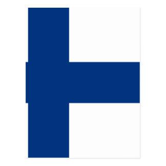 Flag of Finland - Suomen lippu - Finlands flagga Postcard