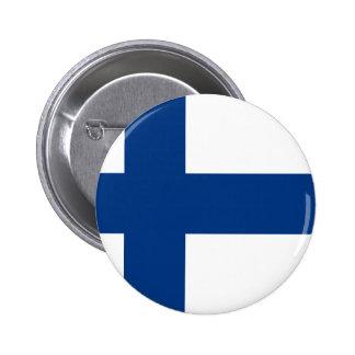 Flag of Finland - Suomen Lippu - Siniristilippu Button