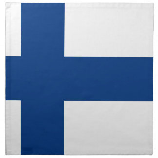 Flag of Finland - Suomen Lippu - Siniristilippu Cloth Napkin