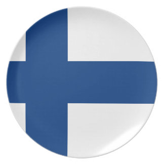 Flag of Finland - Suomen Lippu - Siniristilippu Plate