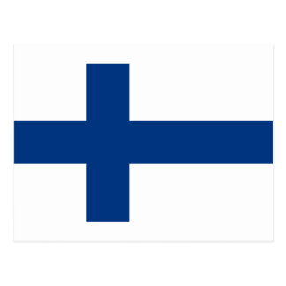 Flag of Finland - Suomen Lippu - Siniristilippu Postcard