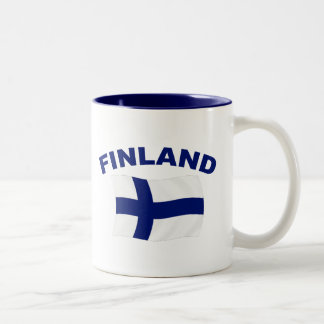Flag of Finland Two-Tone Coffee Mug