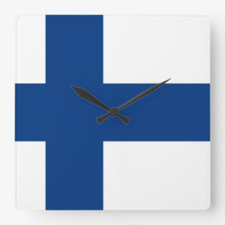 Flag of Finland Wall Clock