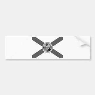 Flag of Florida Posterized Bumper Sticker