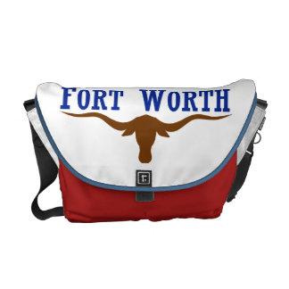 Flag of Fort Worth Texas Messenger Bag