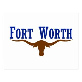 Flag of Fort Worth Texas Postcard