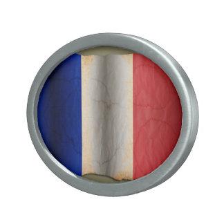 Flag of France Belt Buckle