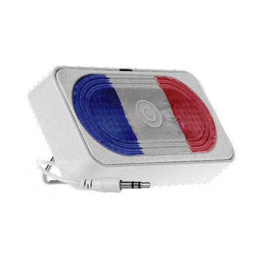 Flag Of France Blue White Red Speaker FX  Doodle