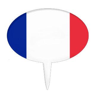 Flag of France; French Flag, Drapeau de la France Cake Topper