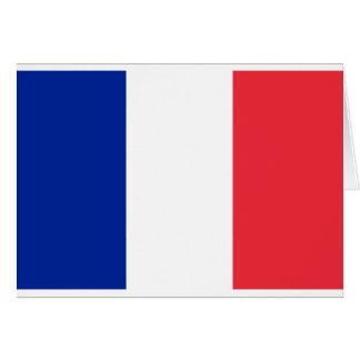 Flag of France; French Flag, Drapeau de la France Greeting Card