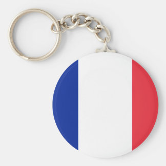 Flag of France; French Flag, Drapeau de la France Keychain