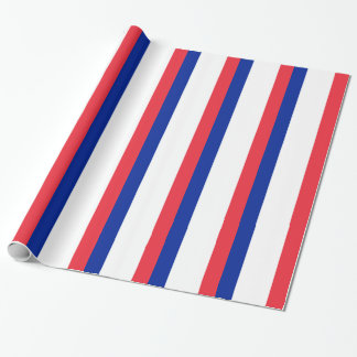 Flag of France; French Flag, Drapeau de la France Wrapping Paper