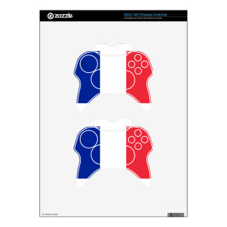 Flag of France; French Flag, Drapeau de la France Xbox 360 Controller Decal