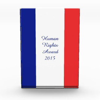 Flag of France French Tricolore Acrylic Award