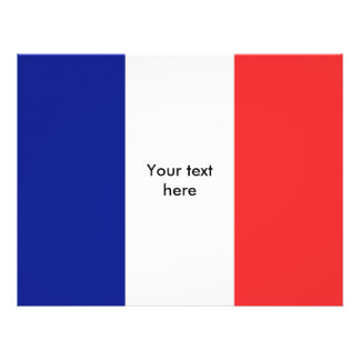 Flag of France French Tricolore Letterhead