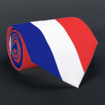 """Flag of France French Tricolore Neck Tie<br><div class=""""desc"""">The flag of France or Drapeau de la France is a tricolour flag featuring three vertical bands coloured blue, white, and red. It is known as the French Tricolour or simply the Tricolour or Tricolor. Early in the French Revolution, the Paris militia, which played a prominent role in the storming...</div>"""
