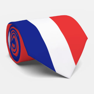 Flag of France French Tricolore Neck Tie