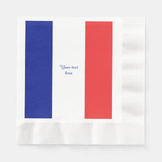 Flag of France French Tricolore Paper Napkin