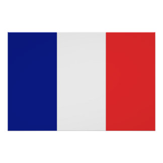 Flag of France French Tricolore Poster