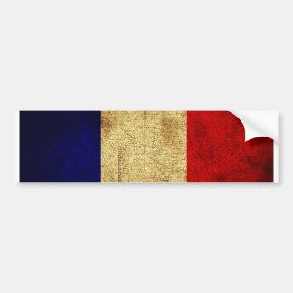 Flag of France Grunge Car Bumper Sticker